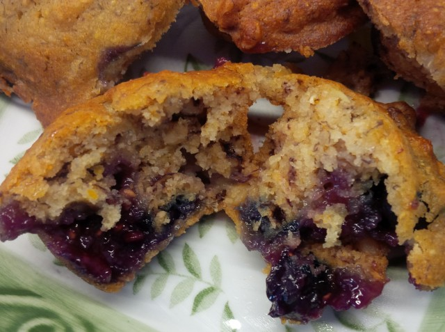 open jammy muffin